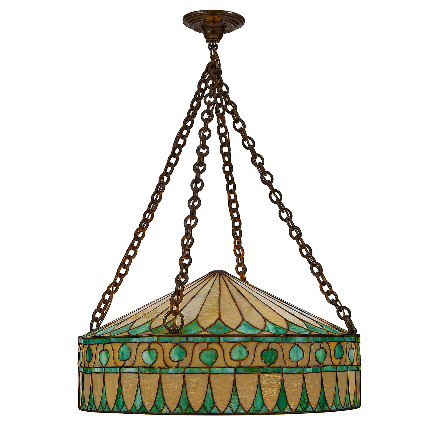 """R. Williamson & Co. hanging light fixture overall: 24""""dia x 34""""h"""