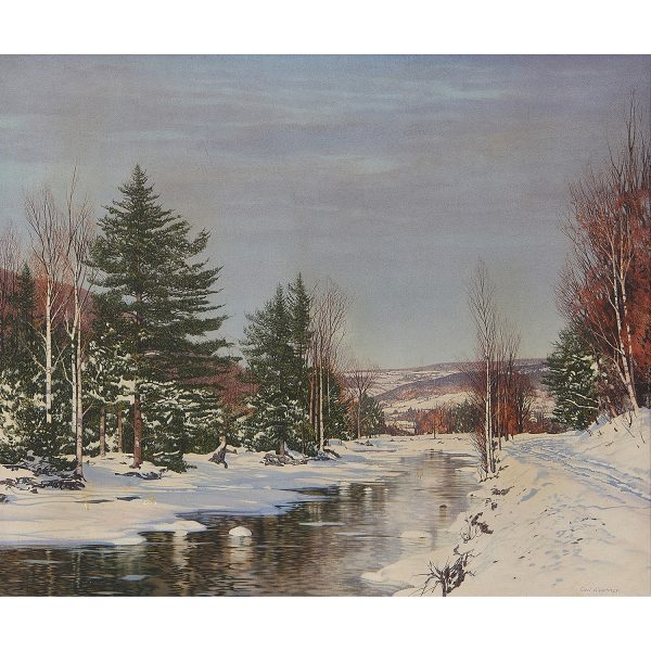 """Carl Wuermer, (American, 1900-1981), Late Afternoon in Winter, oil on canvas, 24 3/4"""" x 30 1/8"""""""
