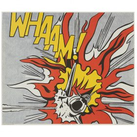 """Roy Lichtenstein, (American, 1923-1997), WHAAM! (diptych), 1963/1968, offset color lithograph, each: 24 3/4"""" × 29"""""""