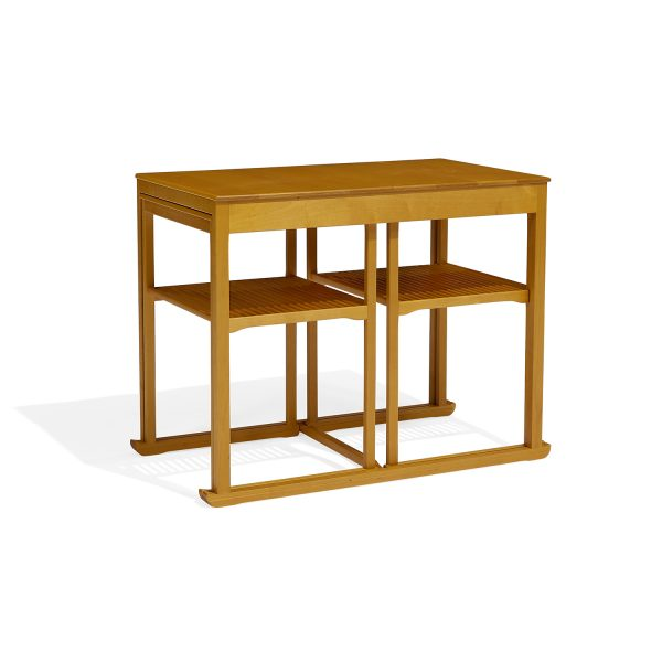 "Carl Malmsten (1888-1972) for Åfors Möbelfabrik Sled nesting tables, set of three larger table: 27 3/4""w x 16 1/4""d x 22 1/4""h; smal..."