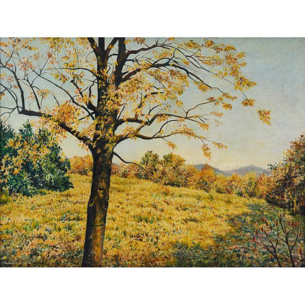 "Clarence Holbrook Carter, (American, 1904-2000), Autumn, 1959, oil on canvas, 34"" x 46"""