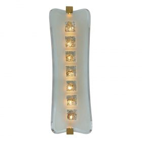 """Max Ingrand (1908-1969) for Fontana Arte wall sconce, #1568 8""""w x 7 1/2""""d x 24""""h"""