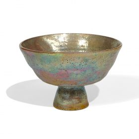 """Beatrice Wood (1893-1998) Beato footed bowl 4 7/8""""dia x 3 1/4""""h"""