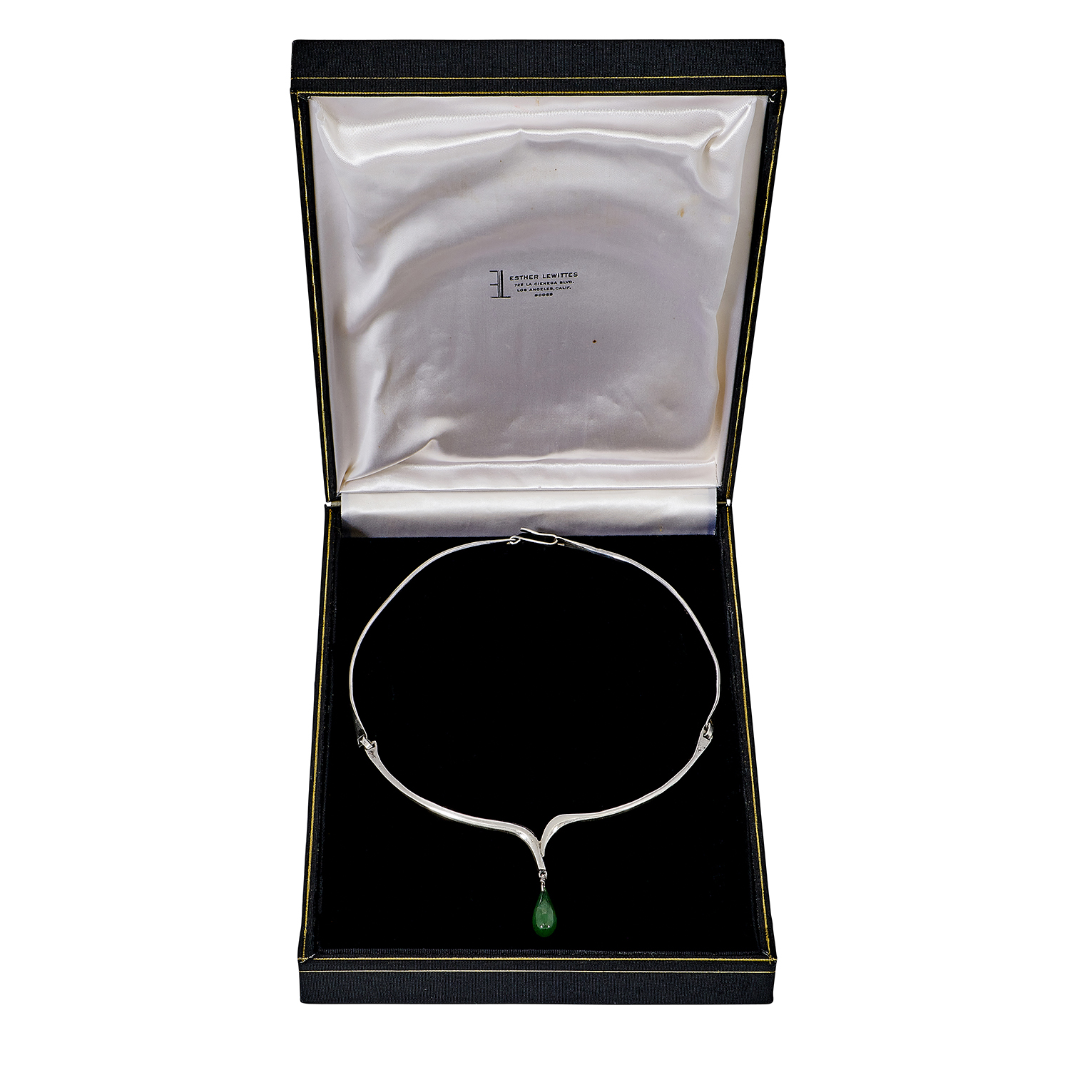 """Esther Lewittes (1904-1990) pendant necklace, in an original case 16 3/4""""l (approximately)"""