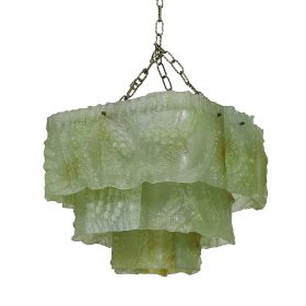 """Attributed to Mazzega chandelier 19 1/2""""w x 18 1/2""""d x 15""""h"""