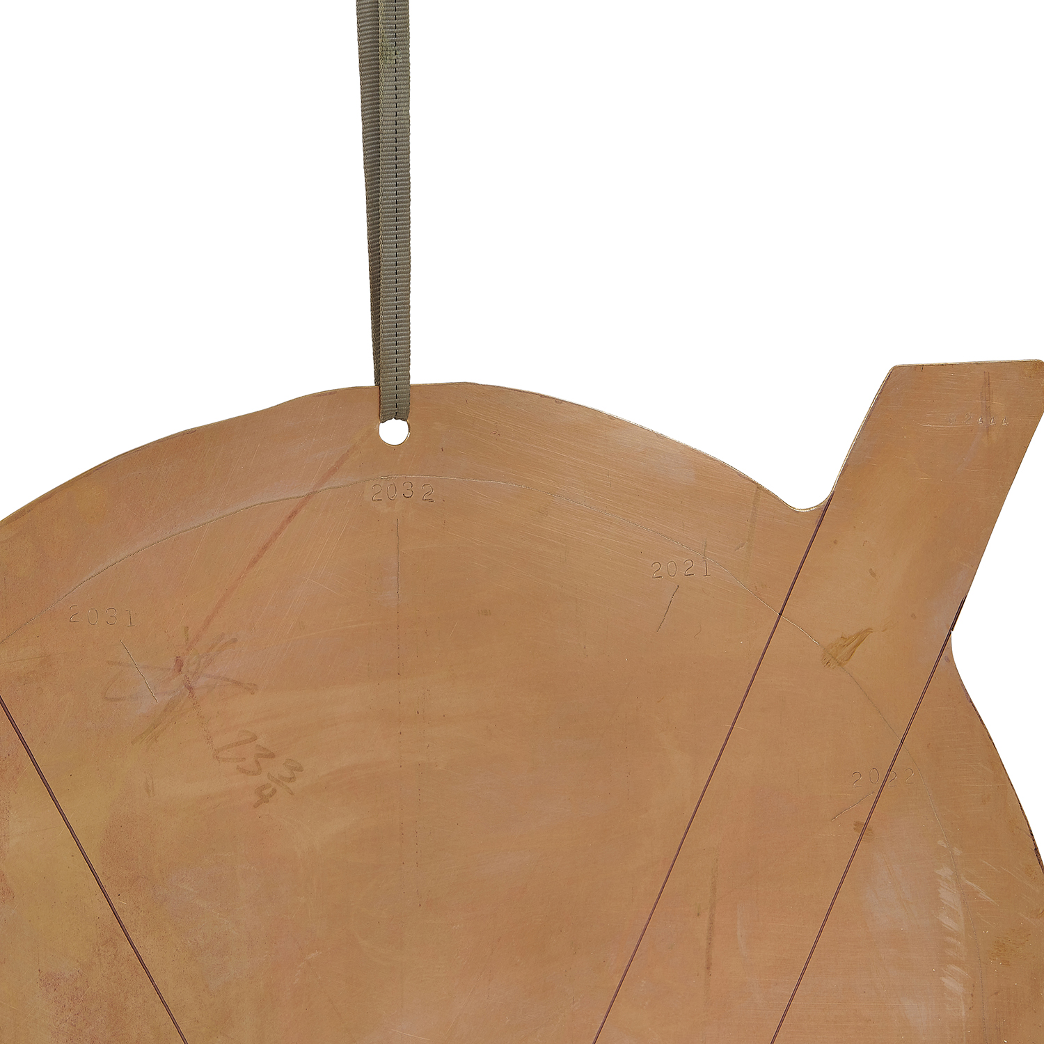 """Val Bertoia, (American, b. 1949), 12-Year Valendar for Sound, #B-2444, 2021, cut, drilled and stamped silicon-bronze plate, 24""""h x 2..."""