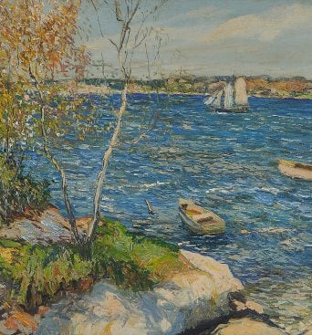 <strong>Edward Willis Redfield</strong>, Overlook at Boothbay Harbor, Maine, circa 1930