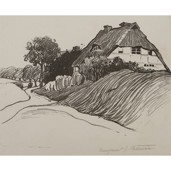 """Margaret Jordan Patterson, (American, 1867-1950), A Cottage in Italy, lithograph, 8 3/4"""" x 11 1/4"""""""